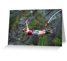 bungy jump Greeting Card