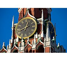 Tower clock Photographic Print