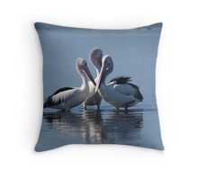Pelican Whispers Throw Pillow