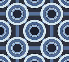 Blue CIrcles Pattern by Charlotte Lake
