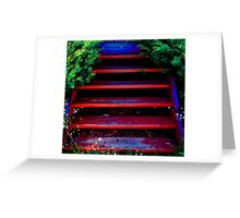Stepping up Greeting Card