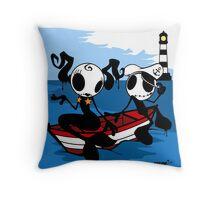 Belle des flots by ArteCita Throw Pillow