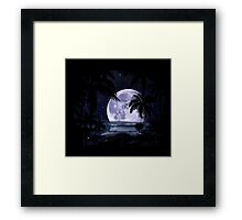A night at the beach in paradise Framed Print