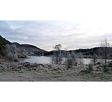 Loch Rotmell with Hoar Frost Photographic Print