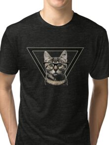 Hipster Cat is Hipster Tri-blend T-Shirt