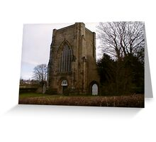 Beauchief Abbey,Sheffield. Greeting Card