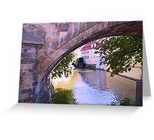 Prague Venice Greeting Card