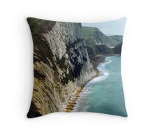 The Coastal Path Throw Pillow