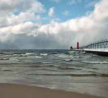 Winter Snows Coming On Shore by JKunnen