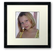 Portrait in Yellow Framed Print