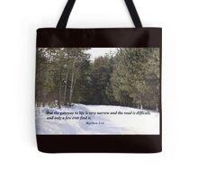 Matthew 7:14 Tote Bag