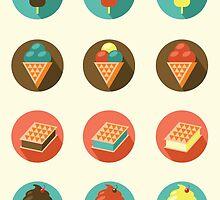 Ice-cream Icons by paletskaya