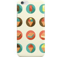 Ice-cream Icons iPhone Case/Skin