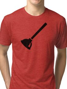 Plunger plumber Tri-blend T-Shirt