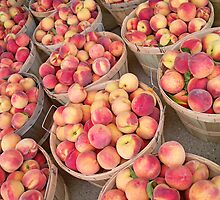 Bushels of Fresh Peaches by JKunnen