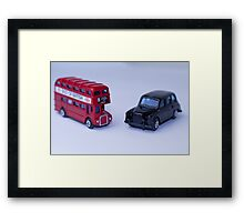London Routemaster Bus And London Black Cab Framed Print