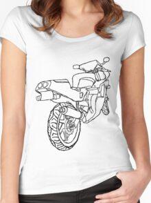 Motorbike Rear 1 Women's Fitted Scoop T-Shirt