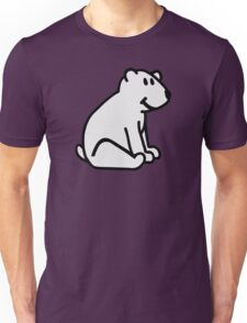 Comic polar bear Unisex T-Shirt