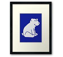Cute polar bear Framed Print