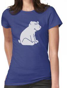 Cute polar bear Womens Fitted T-Shirt