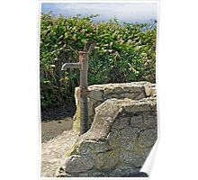 Old Water Pump at Lizard, Cornwall Poster