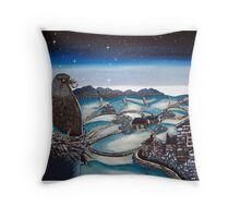 Sneaky-eyed Jack the rooftop rascal. Throw Pillow