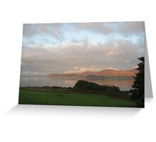 Landscape of sea and light on Arran Greeting Card