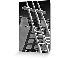 DOUBLE LADDER ACOMA PUEBLO (CARD) Greeting Card