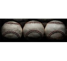 Vintage baseballs Photographic Print