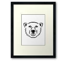 Polar bear head face Framed Print