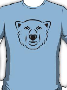 Polar bear head face T-Shirt
