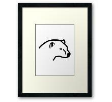 Polar bear head Framed Print