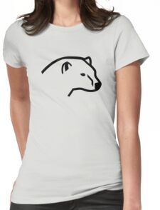 Polar bear head Womens Fitted T-Shirt