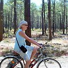 Biking in the forest by daffodil