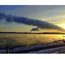 Power Station With Smoke on the Water Photographic Print