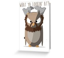 Dwalin the owl Greeting Card
