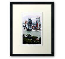 Pixel Art Cities: Rotterdam Skyscrapers Framed Print