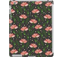 Floral grey pattern iPad Case/Skin
