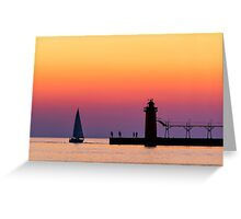 South Haven Twilight Greeting Card