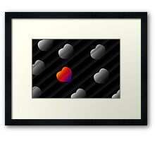 Heart and Seek Framed Print