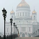 Cathedral of Christ the Savior - Moscow by Irina Chuckowree