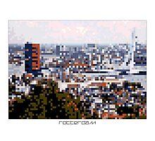 Pixel Art Cities: Rotterdam Panorama Photographic Print