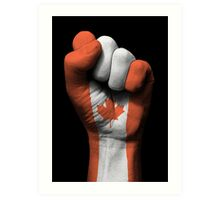 Flag of Canada on a Raised Clenched Fist  Art Print