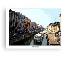 Pixel Art Cities: Milan Navigli Canvas Print
