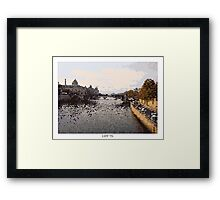 Pixel Art Cities: Paris. Seine Framed Print