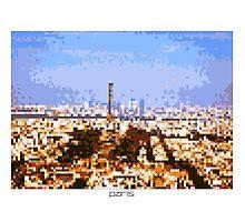 Pixel Art Cities: Paris Panorama Photographic Print