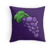 Purple grapes of concord Throw Pillow