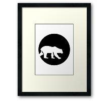 Polar bear moon Framed Print