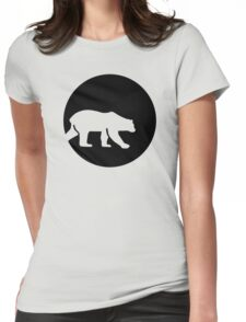 Polar bear moon Womens Fitted T-Shirt