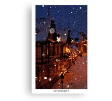 Pixel Art Cities: Dresden Canvas Print